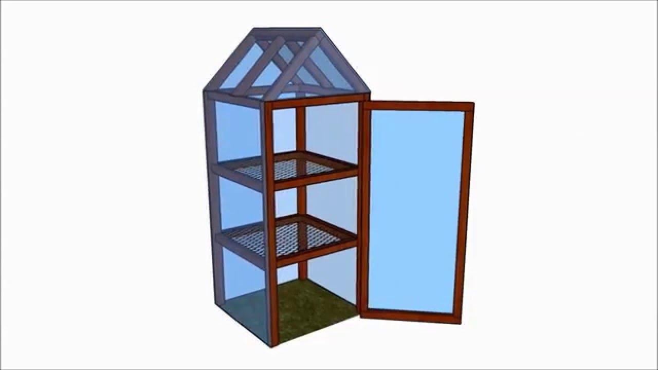 Mini Greenhouse Plans - YouTube