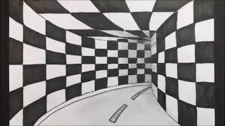 3D Tünel Nasıl Çizilir___how to draw a 3D tunnel
