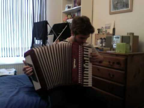 Golden Brown on the Piano Accordion