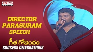 Director Parasuram Speech @ Geetha Govindam Success Celebrations Live || Vijay Devarakonda, Rashmika