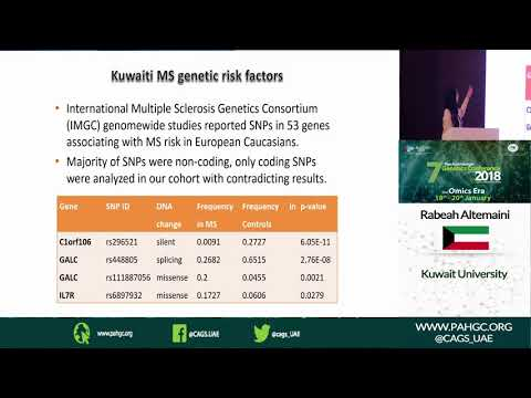 Dr. Rabeah Altemaimi at the 7th Pan Arab Human Genetics Conference