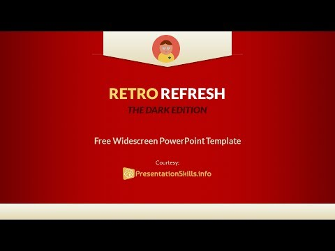 Vintage Retro Powerpoint Template Retro Refresh Youtube