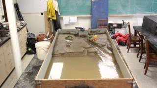 UConn Earth Surface Process lab video: delta in sandbox
