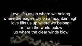 Joe Cocker & Jennifer Warnes - Up where we belong (Instrumental & Lyrics)