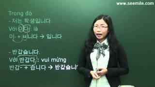 (Vui học hội thoại tiếng Hàn) 3.Xin chào 안녕하세요. 반갑습니다. by seemile.com
