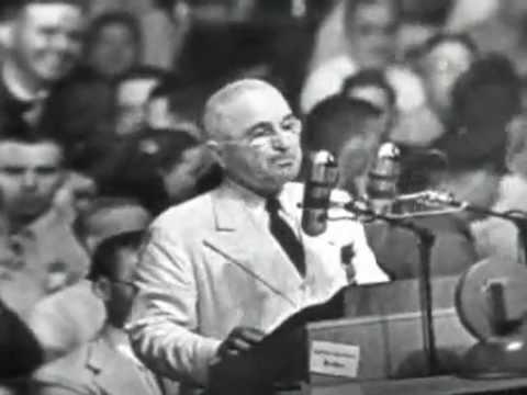 1948 Truman DNC Acceptance Speech (Full) - YouTube