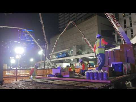 Brickell Flatiron Concrete Pour | Power Construction