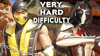 MORTAL KOMBAT 11 Gameplay Very Hard Difficulty Scorpion Vs Skarlet
