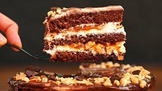 Этот торт должен попробовать каждый Невероятно вкусный торт Сникерс Шоколадный торт с карамелью