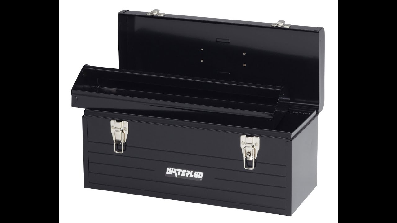 Charming Waterloo MP 2009BK Portable Series Metal Hand Tool Box With Metal Tote,  20 Inch, Black   YouTube