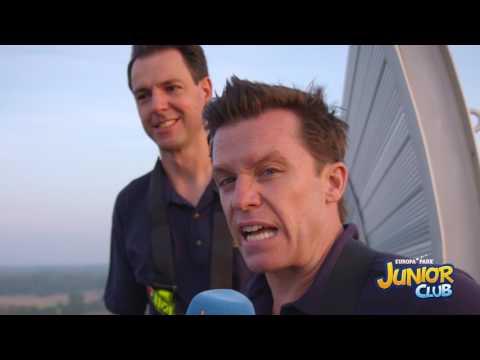 Benedikt Weber hoch oben auf dem Silver Star - Europa-Park JUNIOR CLUB