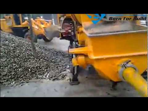 Concrete Mixer Pump Working Video