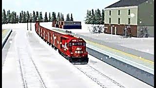 Train Sim - Snow Metropolis Using EMD GP30C-2 Again - Simulasi Kereta Api