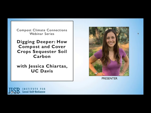 Webinar: How Compost and Cover Crops Sequester Soil Carbon