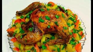 Курица в Духовке в Рукаве Запеченная с Картошкой Простой Рецепт Курицы на Праздничный Стол!
