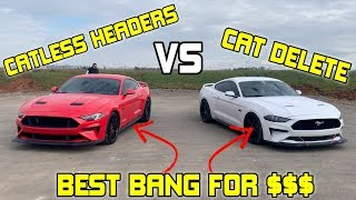 2018 Ford Mustang Corsa Headers vs Cat Delete Exhaust- ARE HEADERS WORTH IT?
