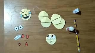 How to make emoji bookmark I Origami I Paper folding