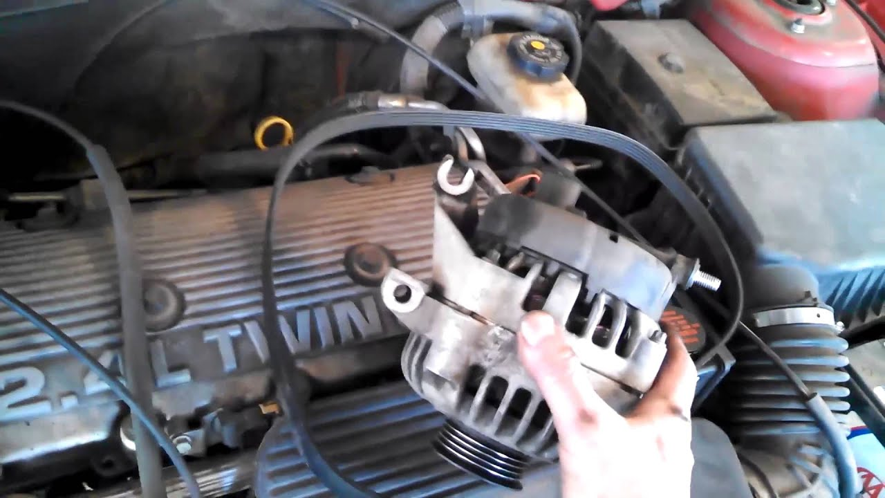 Alternator Replacement Pontiac Grand Am 24l 1997 2001 Alero Malibu Install Remove Replace 97 Chevy Wiring