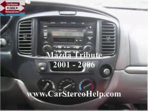 mazda tribute car stereo removal