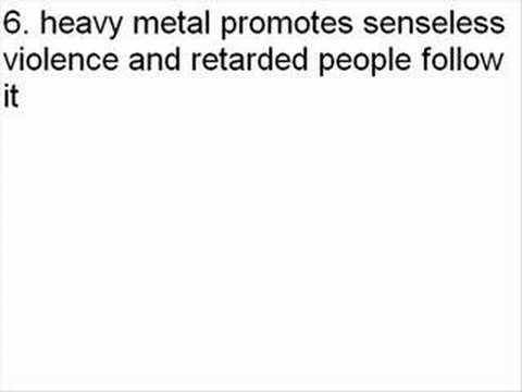 10 reasons why metal is GARBAGE