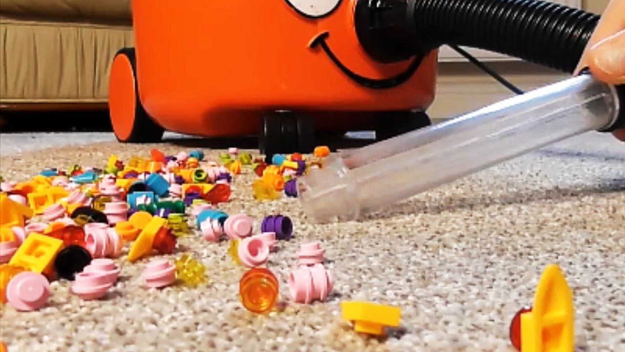 vacuuming tiny lego pieces of the carpet with clear tube ~ vacuum cleaner  white sound ~ sleep noise