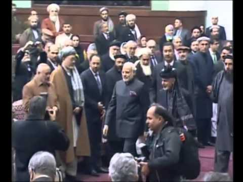 MOMENT ! ! ! WHen Narendra Modi Enters into the New ParLiament of AfGHaniStan