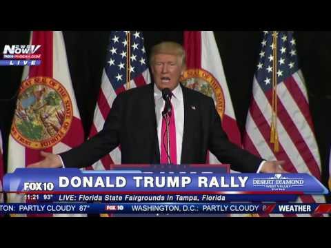 FULL: Donald Trump Rally Speech - Tampa, Florida - 8/24/16 FNN