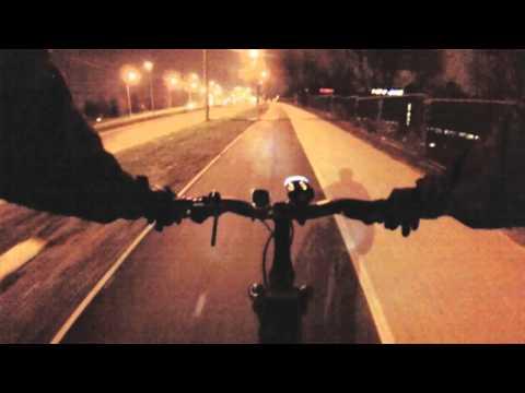GoPro camera test at night in Krakow (bike lighting CatEye HL-AU230)
