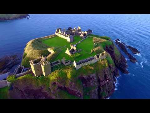 Dunnottar Castle (Stonehaven, Scotland) - DJI Phantom 4 Drone Flight 4K