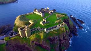 Dunnottar Castle (Stonehaven, Scotland) - DJI Phantom 4 Drone Flight 4K