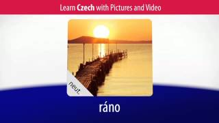 Learn Czech Vocabulary with Pictures and Video - Relaxing in the Evening