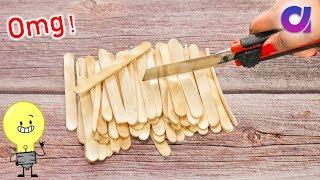 Best out of waste Ice Cream Stick Craft ideas | popsicle stick crafts | Artkala
