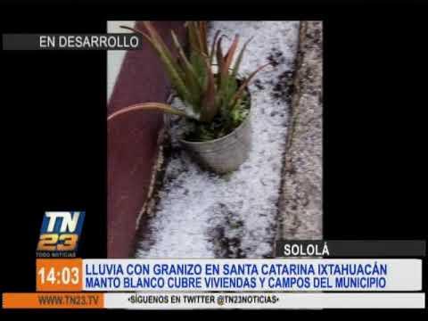 Intensas lluvias en Sololá
