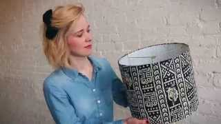 Make a custom drum lampshade in less than an hour! Make it easy with a DIY Lampshade Kit