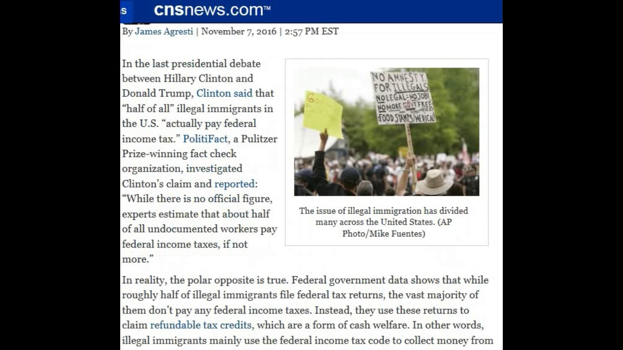 How To File Most Illegal Immigrants Do Recieve Welfare And Don't Pay Income  Taxes