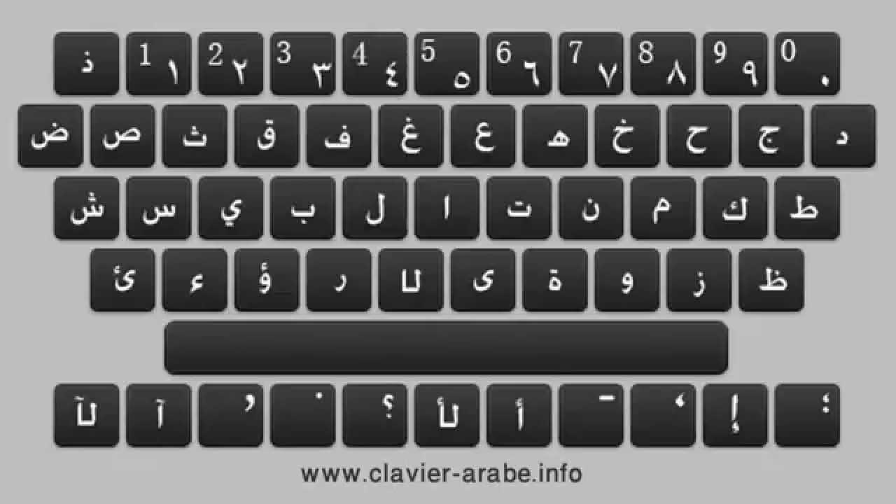 clavier arabe en ligne lexilogos