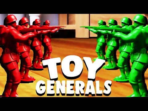 Attack Of The RED ARMY MEN! - Toy Generals Gameplay