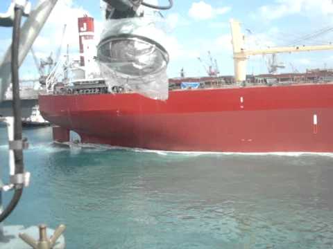 launching ceremony of SC 131on march 05,2011 at tsuneishi ship yard in Balamban, Cebu, PHIL