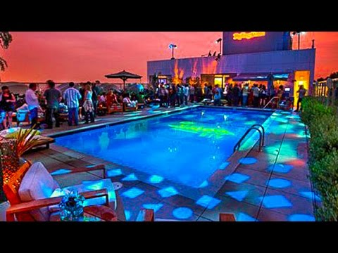 hotel andaz pool party west hollywood youtube. Black Bedroom Furniture Sets. Home Design Ideas