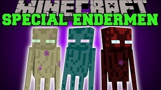 Minecraft: SPECIAL ENDERMEN (CLONES, LIGHTNING, THEIVES, & MORE!) Mod Showcase