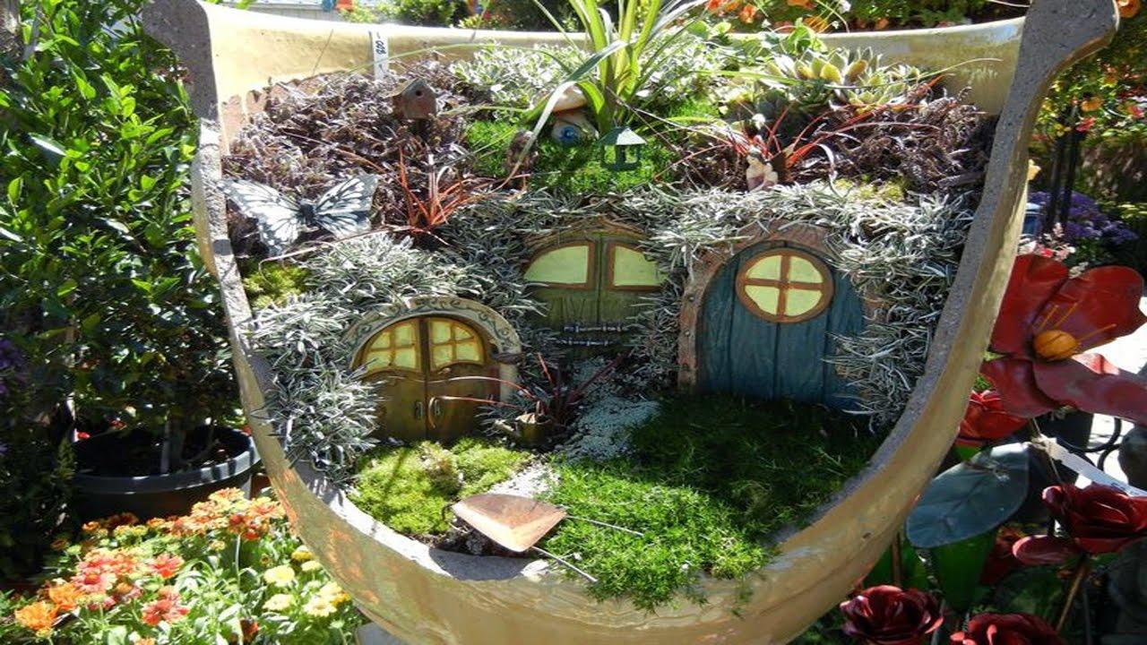 Fairy Garden In A Pot Broken pot fairy garden for u youtube broken pot fairy garden for u workwithnaturefo