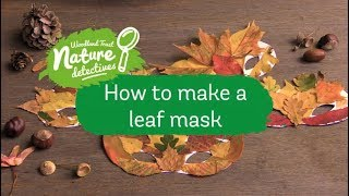 Leaf masks - autumn kids craft | Nature Detectives
