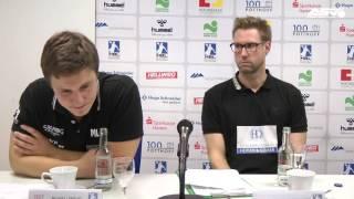Pressekonferenz nach dem Spiel ASV gegen TuS Ferndorf