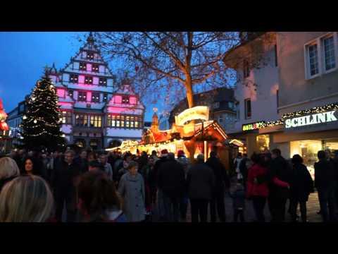 Рождественский базар в Paderborn. Germany. 20.12.2015