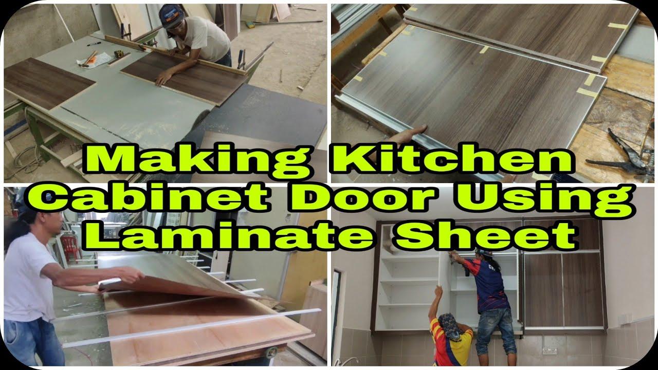 Making Kitchen Cabinet Door Using Laminate Sheet Hpl Formica Youtube