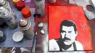 Spray Paint Art TIME LAPSE: Freddie Mercury