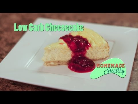 Low Carb Cheesecake, Almond Flour Crust, Grain Free, Gluten Free