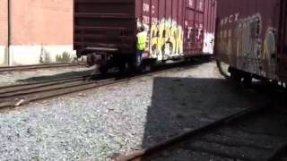 Csx Local Switching National Lumber In Mansfield, Ma. Pt 1