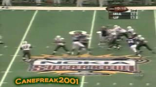 2001 Sugar Bowl - Miami Hurricanes vs Florida Gators Highlights