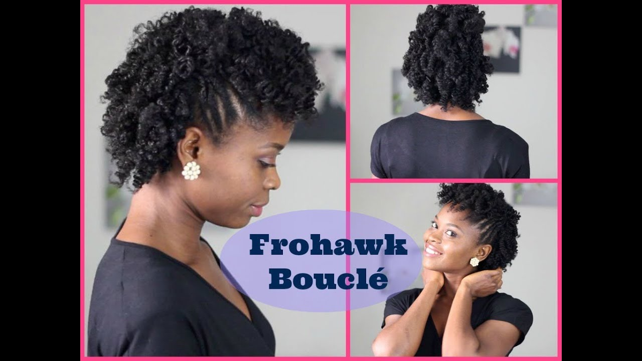 coiffure cheveux cr pus frohawk boucl youtube. Black Bedroom Furniture Sets. Home Design Ideas